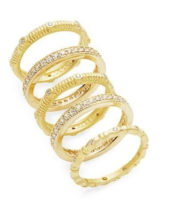 Freida Rothman - Mixed Eternity Band Ring Set