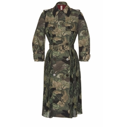 Antonio Marras - Double Breasted Long Sleeve Camouflage Coat