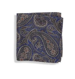 Saks Fifth Avenue Collection  - Paisley Silk Pocket Square