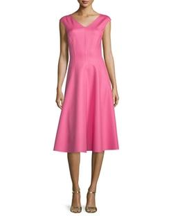 Michael Kors Collection - Cap-Sleeve Seamed Dress