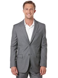 Perry Ellis - Classic Fit Stripe Suit Jacket