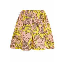 MSGM - Floral-Print Textured-Silk Mini Skirt