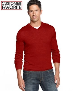 Club Room  - Merino Blend V-Neck Sweater