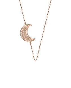 Bettina Javaheri - Double Sided Diamond Moon Necklace