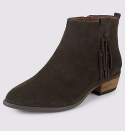 M&S Collection - Stain Away Suede Ankle Boots