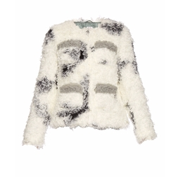 Shrimps - Cindy Spotted Faux-Shearling Jacket
