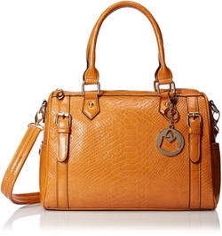 MG Collection - Talia Snake Bowling Top Handle Bag