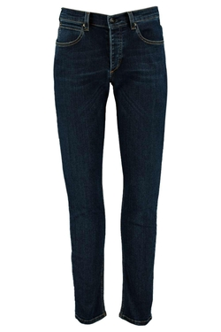 Boohooman Blue - Dark Washed Stretch Skinny Jeans