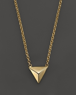 Zoe Chicco - Gold Triangle Pyramid Necklace