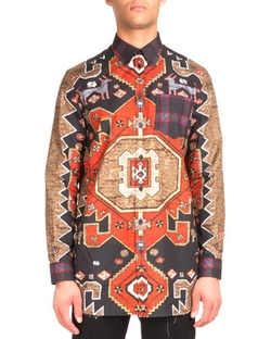 Givenchy - Persian-Print Long-Sleeve Shirt