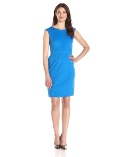 Sandra Darren - Scuba Cap Sleeve Sheath Dress