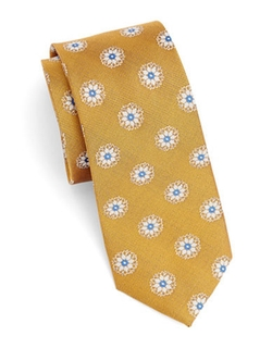Black Brown - Floral Silk Tie