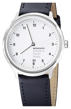 Mondaine - Round Leather Strap Watch