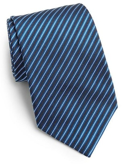 Saks Fifth Avenue Collection  - Narrow Striped Silk Tie