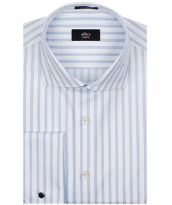 Alara - Stripe French Cuff Euro Collar Shirt