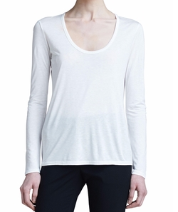 The Row - Scoop-Neck Classic Tee