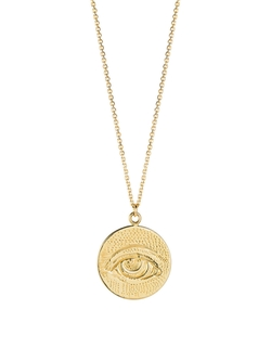 Laura Lee  - All Seeing Eye Coin Necklace