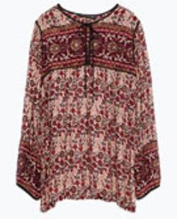 Zara - Printed Blouse