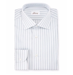 Brioni - Oxford-Stripe Dress Shirt