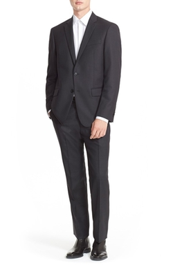 John Varvatos Star Usa - Trim Fit Solid Wool Suit