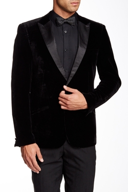 Edge By Wd.ny - Faux Leather Peak Lapel Jacket