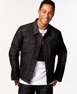 Sean John - Racer Raw Wash Denim Jacket