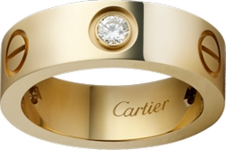 Cartier - Three Diamond Love Ring