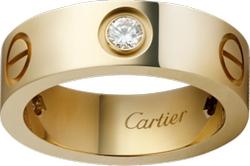 Cartier - Three Diamond Love Ring