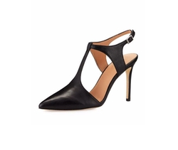 Halston Heritage  - Ruthie Pointed-Toe T-Strap Pumps