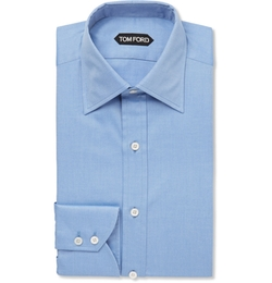 Tom Ford - Blue Slim-Fit Cotton-Twill Shirt
