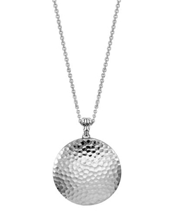 John Hardy - Palu Silver Large Round Pendant Chain Necklace