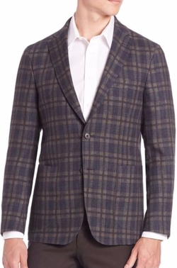 Saks Fifth Avenue Collection  - Wool Plaid Sportcoat
