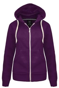 Outofgas - Womens Plain Hoodie Jacket