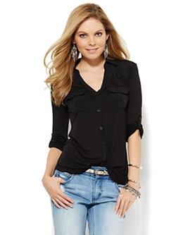 New York & Company - Button-Front Shirt
