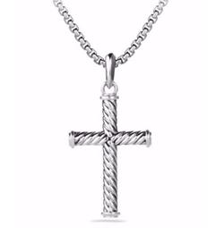 David Yurman  - Cable Cross Pendant Necklace