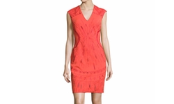 Ph15  - Sleeveless Embroidered Ponte Mini Dress