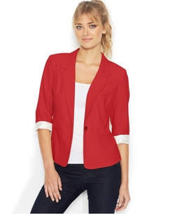 Kensie - Three-Quarter-Sleeve Blazer