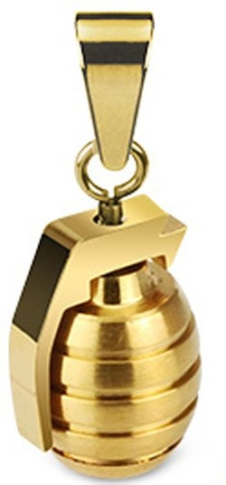 Belesta Jewelry - Gold Tone Hand Grenade Necklace