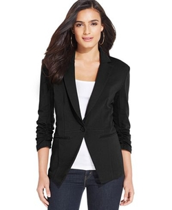 Style & Co. - Ponte Knit Fitted Blazer