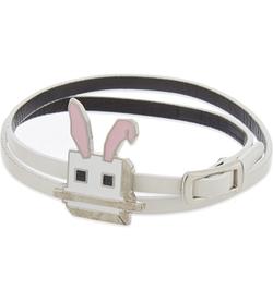 Mcq Alexander Mcqueen - Leather Electro Bunny Wrap Bracelet