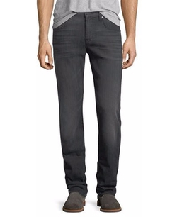 7 For All Mankind - Straight-Leg Airweft Denim Jeans
