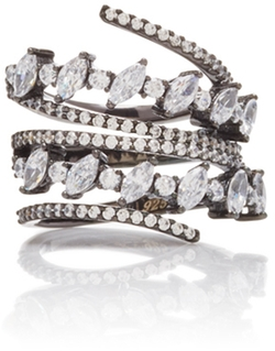 Fallon - Jagged Edge Spiral Ring