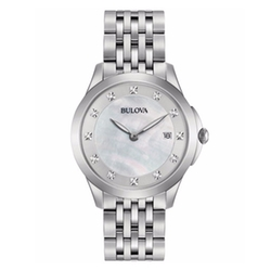 Bulova - Diamond Accent Stainless Steel Bracelet Watch