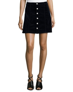 Alexa Chung for AG  - Kety Button-Front Denim Skirt