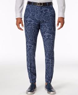Tallia - Indigo Blue Paisley Pants