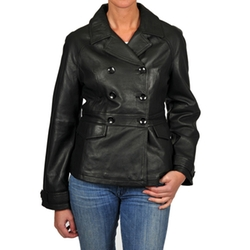 R & O - Leather Double-Breasted Jacket