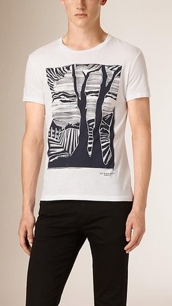 Burberry - Graphic Print Cotton T-shirt