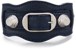 Balenciaga - Giant 12 Leather Buckle Bracelet
