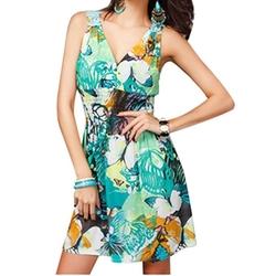 Egelbel - Floral Print Boho Style Tank Dress