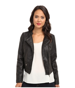 Doll House - Asymmetric Zip Moto w/ Perforated Side Panels